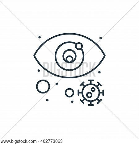 infected icon isolated on white background. infected icon thin line outline linear infected symbol f