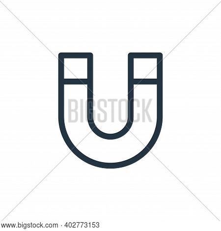 magnet icon isolated on white background. magnet icon thin line outline linear magnet symbol for log