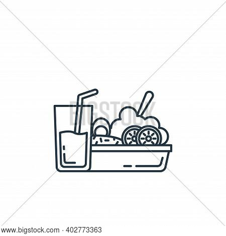 food icon isolated on white background. food icon thin line outline linear food symbol for logo, web