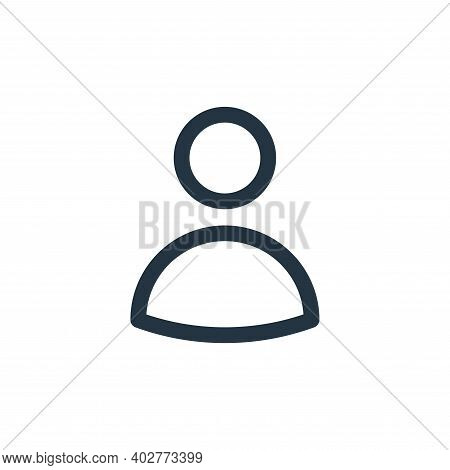 user icon isolated on white background. user icon thin line outline linear user symbol for logo, web