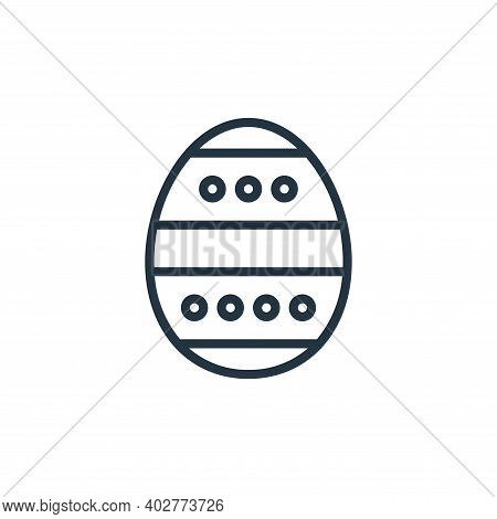 easter egg icon isolated on white background. easter egg icon thin line outline linear easter egg sy