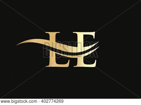 Initial Le Letter Business Logo Design Vector Template With Minimal And Modern Trendy