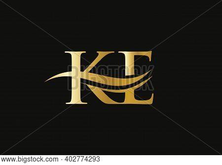 Initial Letter Ke Linked Logo For Business And Company Identity. Modern Letter Ke Logo Vector Templa