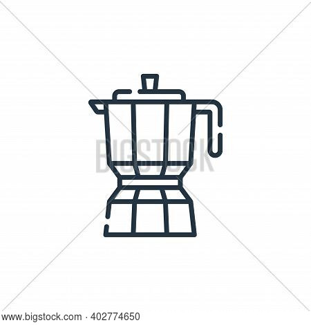 coffee pot icon isolated on white background. coffee pot icon thin line outline linear coffee pot sy