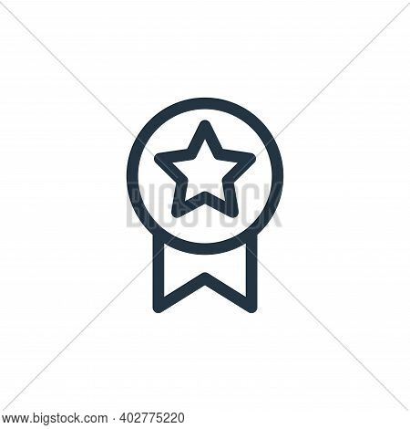 achievement icon isolated on white background. achievement icon thin line outline linear achievement