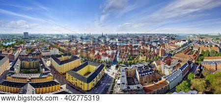 Panoramic View At The City Center Of Copenhagen, Denmark
