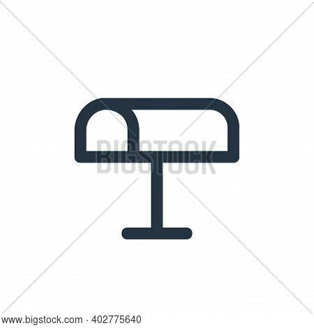 mailbox icon isolated on white background. mailbox icon thin line outline linear mailbox symbol for
