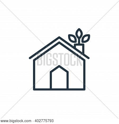 eco house icon isolated on white background. eco house icon thin line outline linear eco house symbo