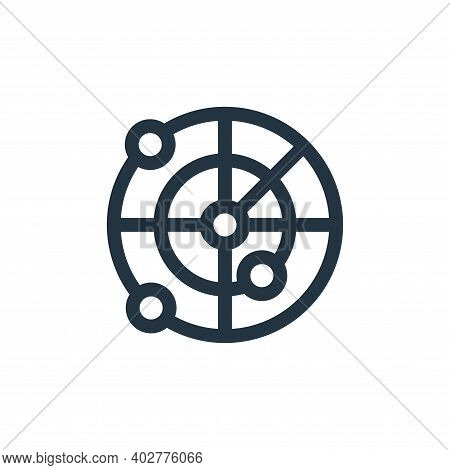 radar icon isolated on white background. radar icon thin line outline linear radar symbol for logo,