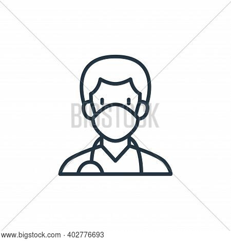 doctor icon isolated on white background. doctor icon thin line outline linear doctor symbol for log
