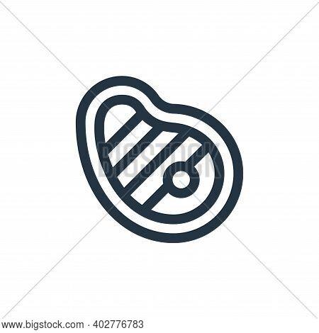 steak icon isolated on white background. steak icon thin line outline linear steak symbol for logo,