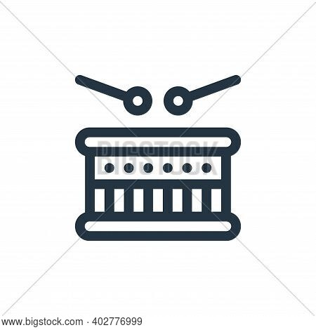 drum icon isolated on white background. drum icon thin line outline linear drum symbol for logo, web