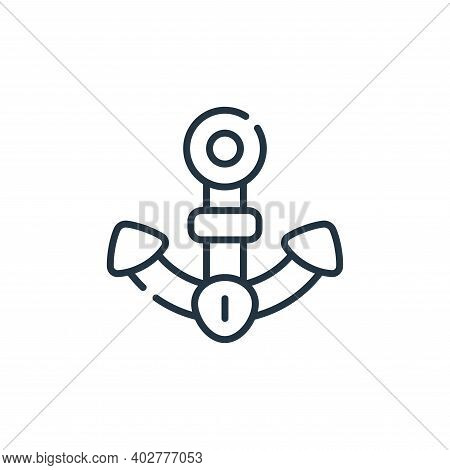 anchor icon isolated on white background. anchor icon thin line outline linear anchor symbol for log