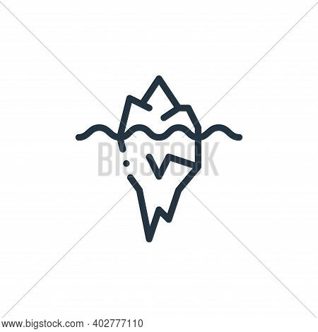 iceberg icon isolated on white background. iceberg icon thin line outline linear iceberg symbol for