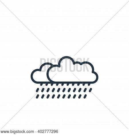rain icon isolated on white background. rain icon thin line outline linear rain symbol for logo, web