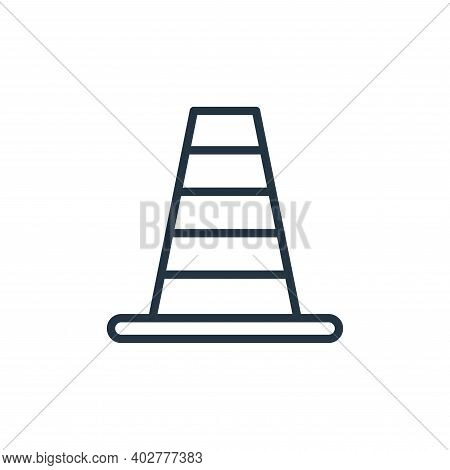 cone icon isolated on white background. cone icon thin line outline linear cone symbol for logo, web