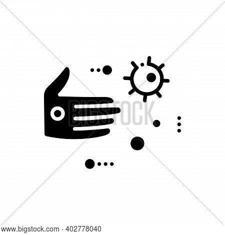 Contact Spread Glyph Icon. Disease Spreading Concept. Covid19, Virus Disease, Influenza Or Flu Trans