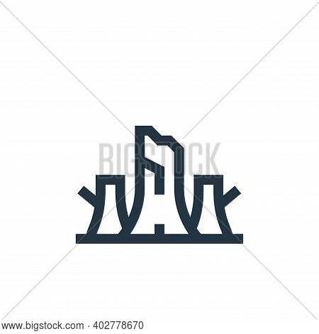 trunk icon isolated on white background. trunk icon thin line outline linear trunk symbol for logo,