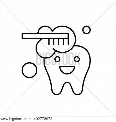Toothbrush Icon Isolated On White Background From Dentist Collection. Trendy Toothbrush Icons And Mo