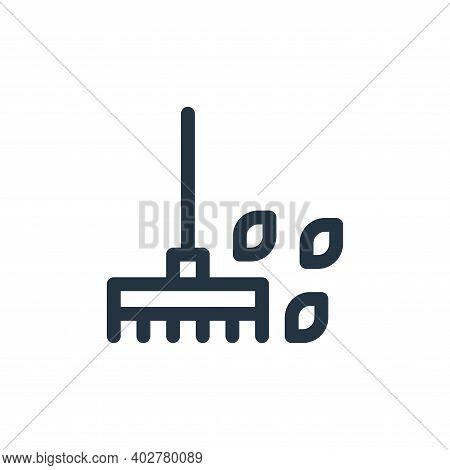 rake icon isolated on white background. rake icon thin line outline linear rake symbol for logo, web