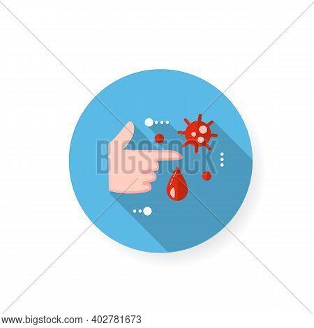 Infection Through Blood Flat Icon. Disease Spreading Concept. Covid19, Virus Disease, Influenza Tran