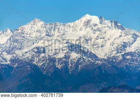 Mount Bandarpunch, Himalaya, Panoramic View Of Indian Himalayas, Great Himalayan Range, Uttarakhand