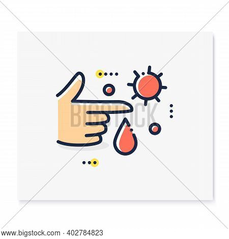 Infection Through Blood Color Icon. Disease Spreading Concept. Covid19, Virus Disease, Influenza Tra