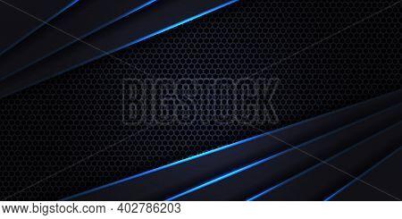 Dark Futuristic Hexagon Carbon Fiber, Luxury Modern Technology Background. Carbon Fiber Dark Violet