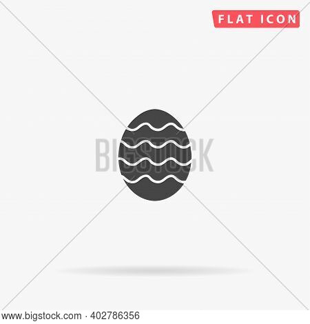 Easter Egg Flat Vector Icon. Hand Drawn Style Design Illustrations.