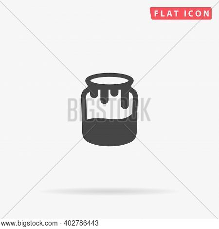 Honey Jar Flat Vector Icon. Hand Drawn Style Design Illustrations.