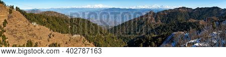 Himalaya, Panoramic View Of Indian Himalayas, Great Himalayan Range, Uttarakhand India, View From Mu