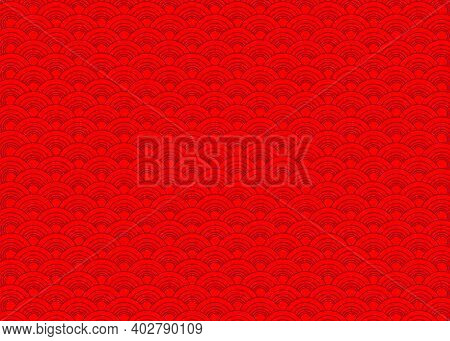 Red Abstract Seamless Pattern Vector, Red Chinese Background Pattern For New Years Celebrations, Chi