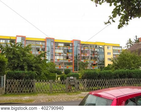 Modern Apartment Building In Berlin, Germany