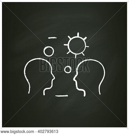 Close Contact Spread Chalk Icon. Disease Spreading Concept. Covid19, Virus Disease, Influenza Airbor