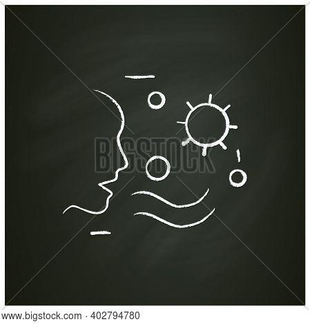 Airborne Spread Chalk Icon. Disease Spreading Concept. Covid19, Virus Disease, Influenza Or Flu Tran