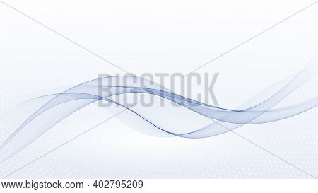 Abstract Blue Wave Vector Background Blue Wave Flow