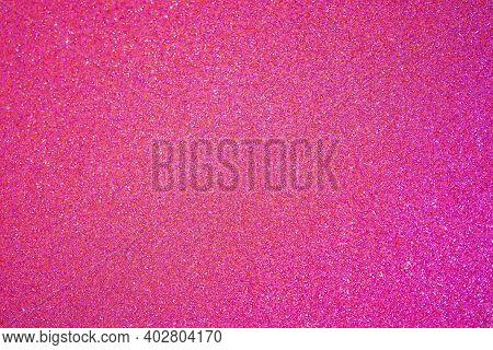 Valentines Greeting And Wedding Invitation Card Design Element. Rose Glitter Defocused Lights Backgr