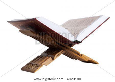 Holy Koran. Isolated On White
