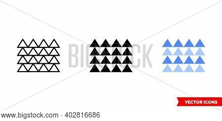 Multiple Triangles Icon Of 3 Types Color, Black And White, Outline. Isolated Vector Sign Symbol.