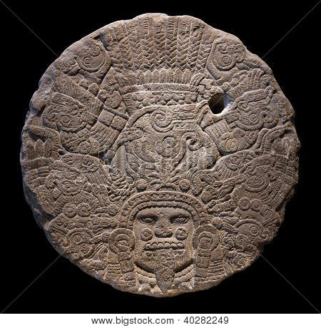 Stone Altar Disk To Tlaltecuhtli