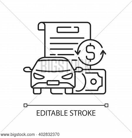 Vehicle Title Loan Linear Icon. Placing Lien On Car Title. Borrowers Outstanding Debt Repayment. Thi