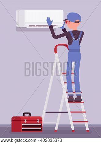 Air Conditioner Unit Installation, Fixing, Ac Repair. Service Technician, Professional Installer Of