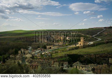 Panorama Of Toledo City In Spain.seen From Toledo Castle
