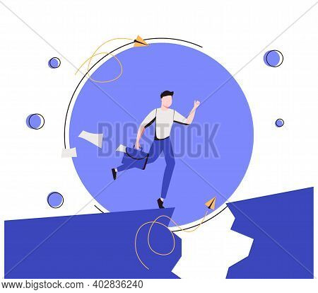 Overcoming Obstacles As Difficulty Or Problem In Business Tiny Person Concept. Avoiding Barriers In