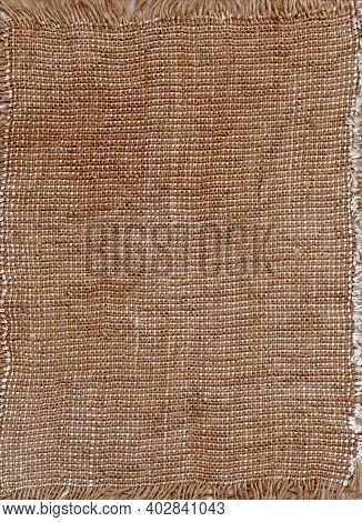 Sacking Texture. Patterned Fabric. Natural Textile. Empty Fabric Background. Linen Cloth Texture. Fa