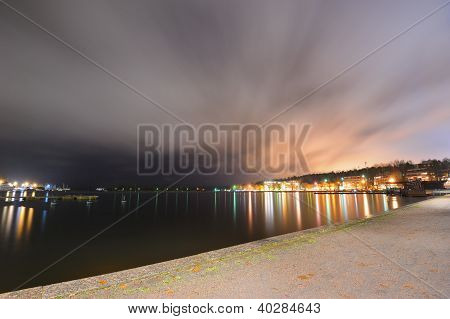 Finnish Town Lappeenranta In Evening Lights