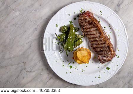 Barbecue Rib Eye Steak Or Rump Steak  Dry Aged Wagyu Entrecote Steak