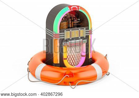 Repair And Service Of Jukebox, 3d Rendering Isolated On White Background