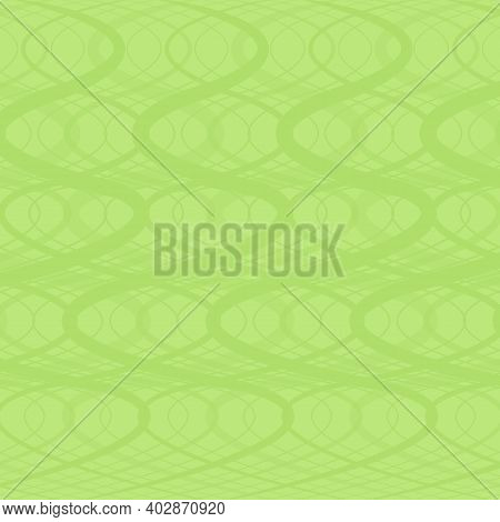 Light Green Background - Abstraction With Twisting Strips
