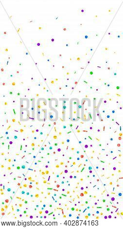 Festive Dazzling Confetti. Celebration Stars. Festive Confetti On White Background. Great Festive Ov